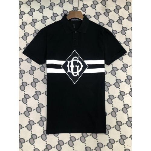 Dolce & Gabbana D&G T-Shirts Short Sleeved Polo For Men #753446