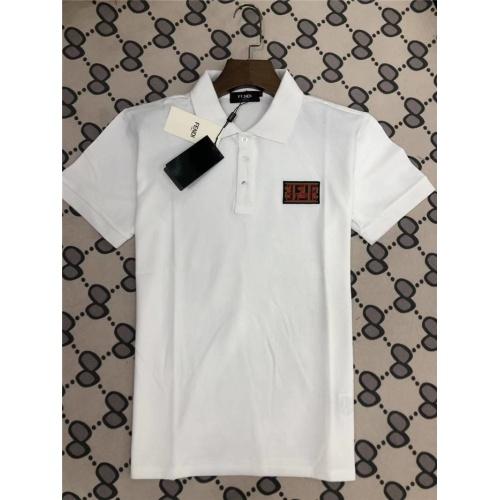 Fendi T-Shirts Short Sleeved Polo For Men #753573