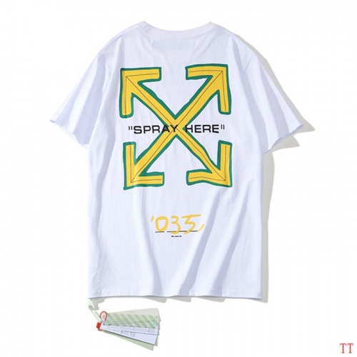 Off-White T-Shirts Short Sleeved O-Neck For Men #754649