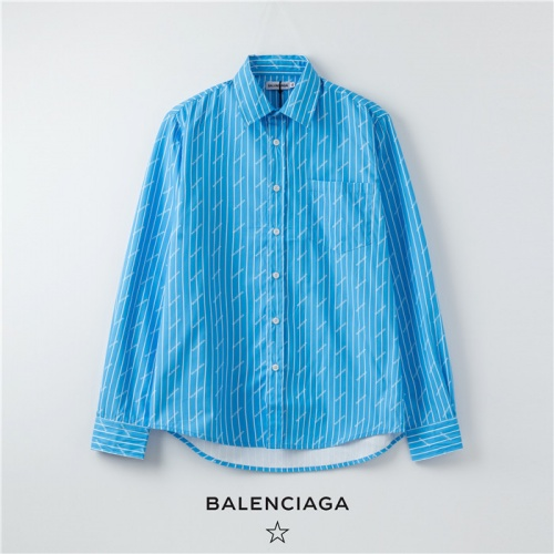Balenciaga Shirts Long Sleeved Polo For Men #754726
