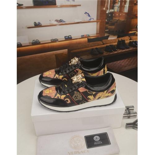 Versace Casual Shoes For Men #754743 $71.78, Wholesale Replica Versace Fashion Shoes