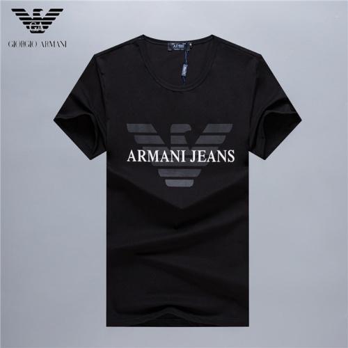 Armani T-Shirts Short Sleeved O-Neck For Men #754931