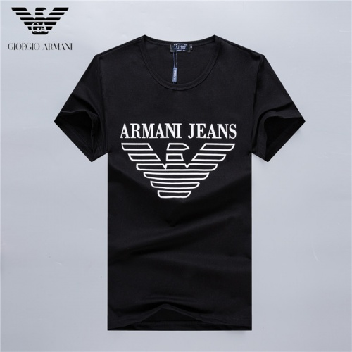 Armani T-Shirts Short Sleeved O-Neck For Men #754934