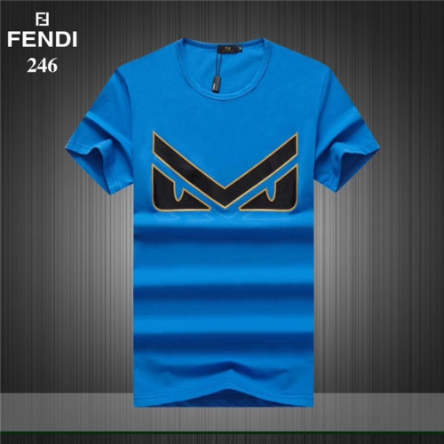 Fendi T-Shirts Short Sleeved O-Neck For Men #754968
