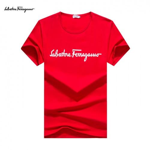 Ferragamo Salvatore FS T-Shirts Short Sleeved O-Neck For Men #755106
