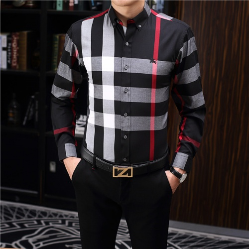 Burberry Shirts Long Sleeved Polo For Men #755116