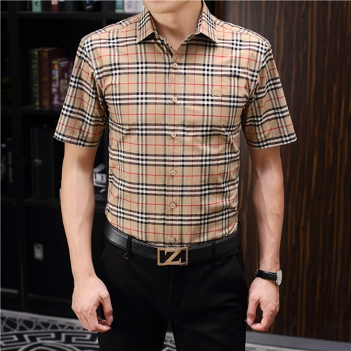 Burberry Shirts Short Sleeved Polo For Men #755123