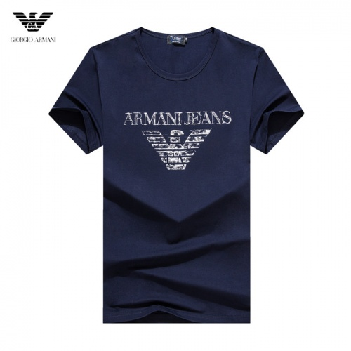 Armani T-Shirts Short Sleeved O-Neck For Men #755159