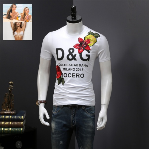 Dolce & Gabbana D&G T-Shirts Short Sleeved O-Neck For Men #755205