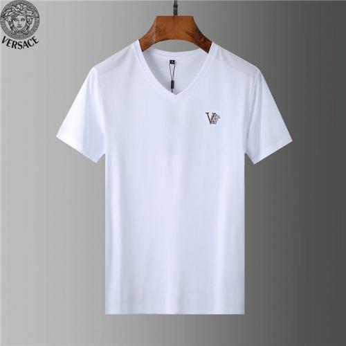 Versace T-Shirts Short Sleeved V-Neck For Men #755573