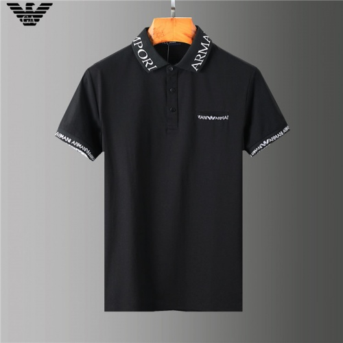 Armani T-Shirts Short Sleeved Polo For Men #755580