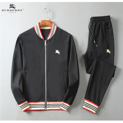 Burberry Tracksuits Long Sleeved Zipper For Men #755851