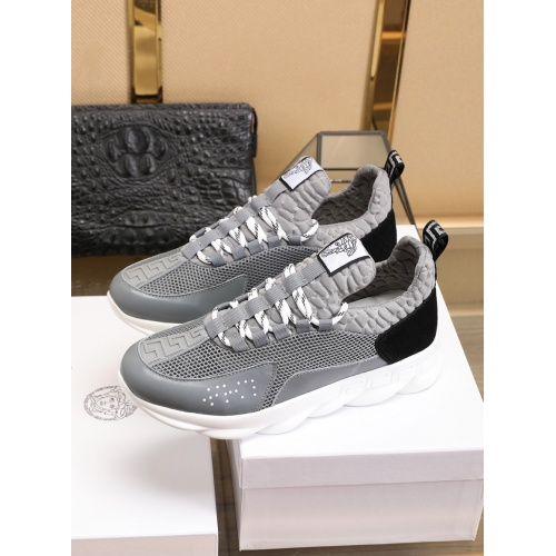 Versace Casual Shoes For Men #755890 $80.51, Wholesale Replica Versace Fashion Shoes