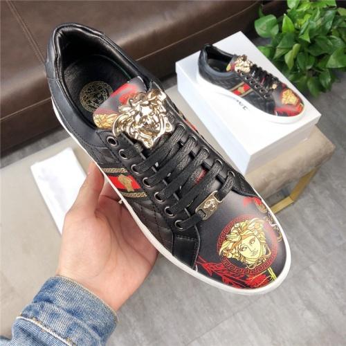 Versace Casual Shoes For Men #756214 $69.84, Wholesale Replica Versace Fashion Shoes