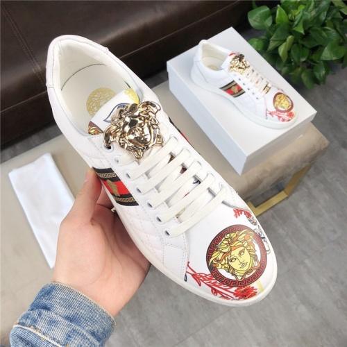 Versace Casual Shoes For Men #756215 $69.84, Wholesale Replica Versace Fashion Shoes