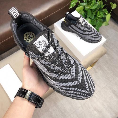 Versace Casual Shoes For Men #756218 $69.84, Wholesale Replica Versace Fashion Shoes