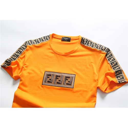 Replica Fendi T-Shirts Short Sleeved O-Neck For Men #756646 $25.22 USD for Wholesale