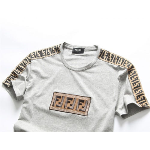 Replica Fendi T-Shirts Short Sleeved O-Neck For Men #756647 $25.22 USD for Wholesale