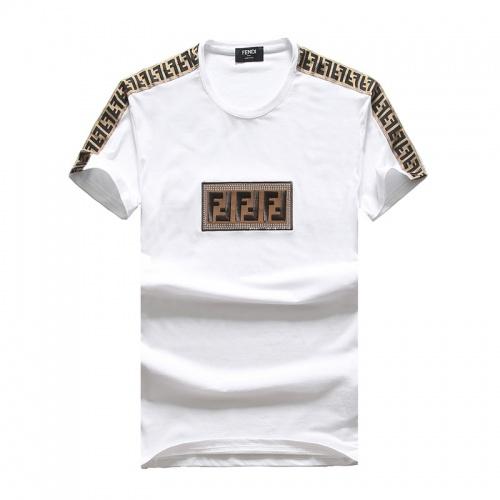 Fendi T-Shirts Short Sleeved O-Neck For Men #756649 $25.22, Wholesale Replica Fendi T-Shirts
