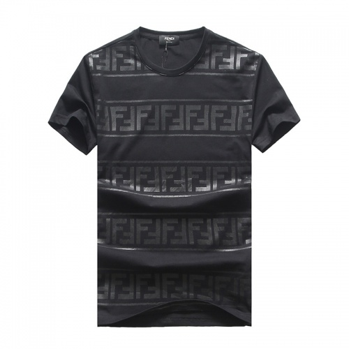 Fendi T-Shirts Short Sleeved O-Neck For Men #756657 $25.22, Wholesale Replica Fendi T-Shirts