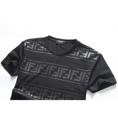 Replica Fendi T-Shirts Short Sleeved O-Neck For Men #756657 $25.22 USD for Wholesale