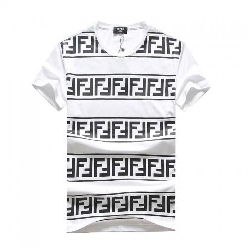 Fendi T-Shirts Short Sleeved O-Neck For Men #756658 $25.22, Wholesale Replica Fendi T-Shirts