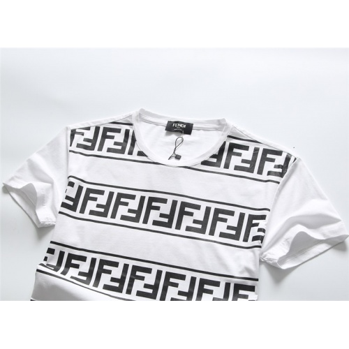 Replica Fendi T-Shirts Short Sleeved O-Neck For Men #756658 $25.22 USD for Wholesale
