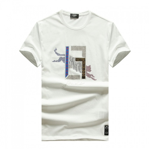 Fendi T-Shirts Short Sleeved O-Neck For Men #756790