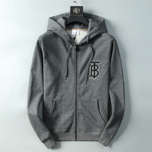 Burberry Hoodies Long Sleeved Zipper For Men #756935