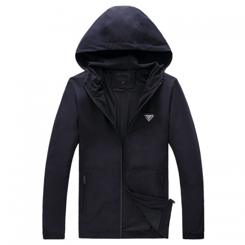 Prada Jackets Long Sleeved Zipper For Men #756954