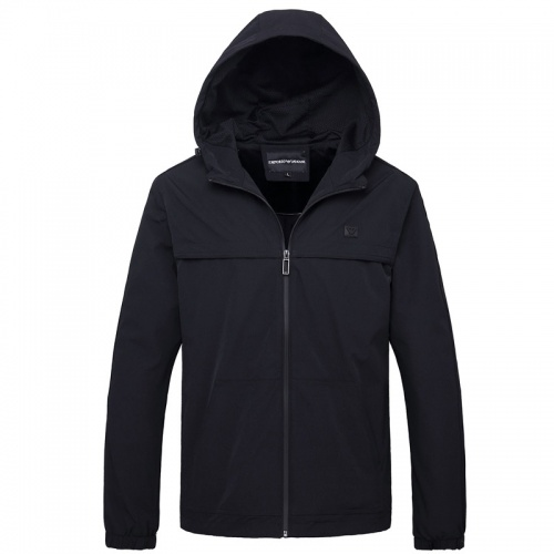 Armani Jackets Long Sleeved Zipper For Men #756957