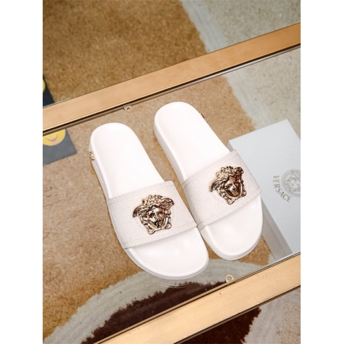 Replica Versace Slippers For Men #757506 $43.65 USD for Wholesale