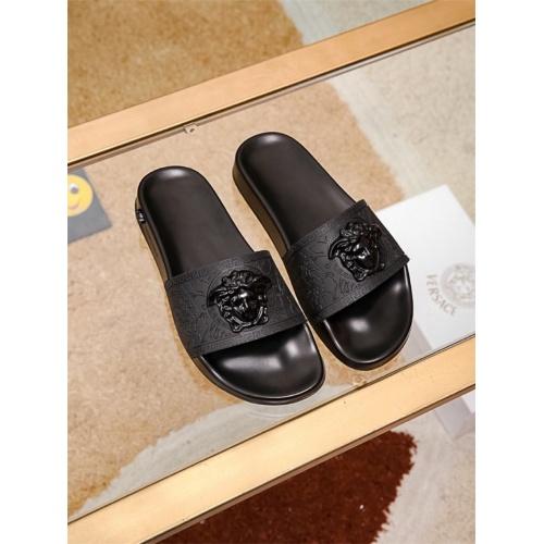 Versace Slippers For Men #757512 $43.65, Wholesale Replica Versace Slippers