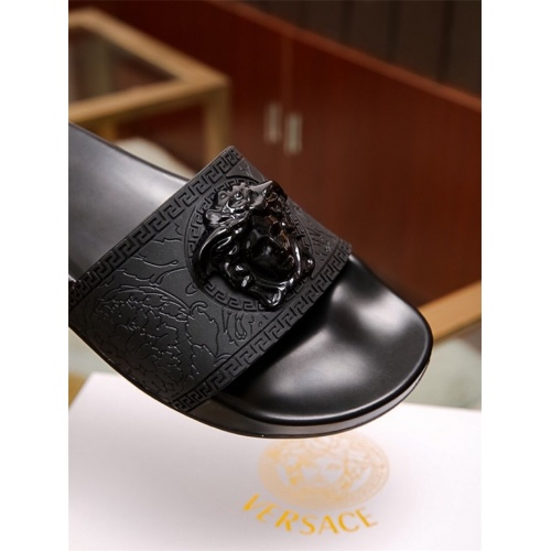 Replica Versace Slippers For Men #757512 $43.65 USD for Wholesale