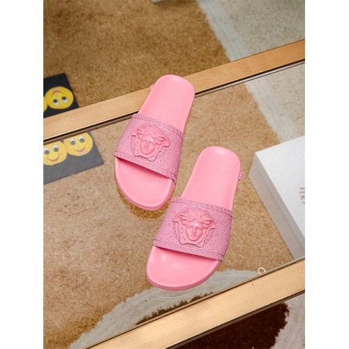 Replica Versace Slippers For Women #757518 $43.65 USD for Wholesale