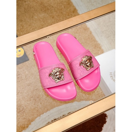 Replica Versace Slippers For Women #757520 $43.65 USD for Wholesale