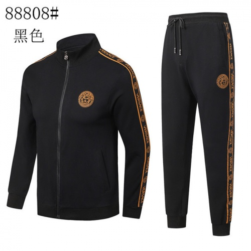 Versace Tracksuits Long Sleeved Zipper For Men #757744