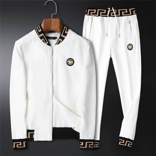 Versace Tracksuits Long Sleeved Zipper For Men #757985