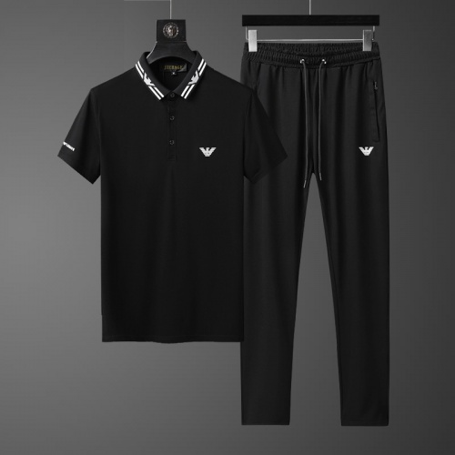 Armani Tracksuits Short Sleeved Polo For Men #758017