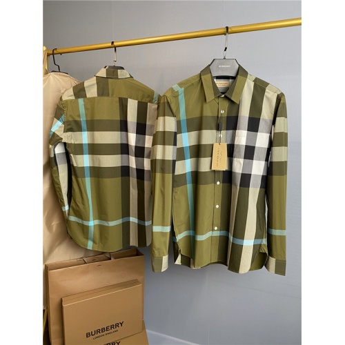 Burberry Shirts Long Sleeved Polo For Men #758118
