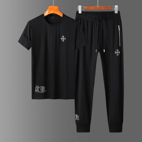 Chrome Hearts Tracksuits Short Sleeved O-Neck For Men #758685