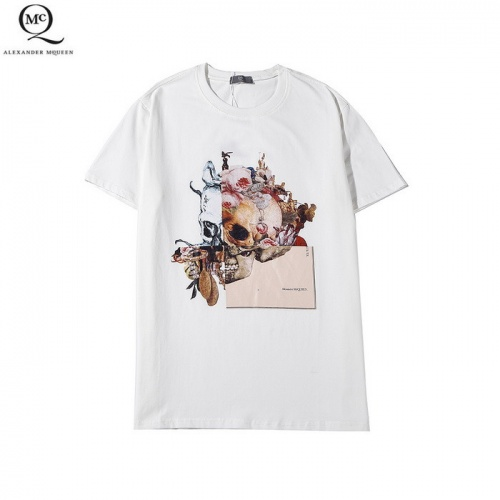 Alexander McQueen T-shirts Short Sleeved O-Neck For Men #758881 $26.19 USD, Wholesale Replica Alexander McQueen T-shirts