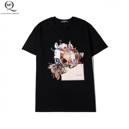 Alexander McQueen T-shirts Short Sleeved O-Neck For Men #758882 $26.19 USD, Wholesale Replica Alexander McQueen T-shirts