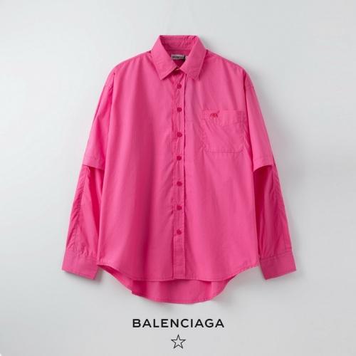 Balenciaga Shirts Long Sleeved Polo For Women #758899