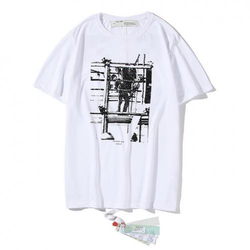 Off-White T-Shirts Short Sleeved O-Neck For Men #759301