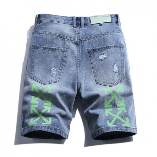 Replica Off-White Jeans Shorts For Men #759371 $38.80 USD for Wholesale