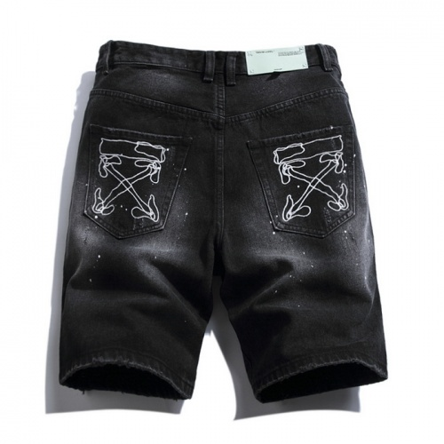 Replica Off-White Jeans Shorts For Men #759374 $38.80 USD for Wholesale