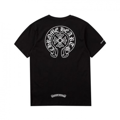 Chrome Hearts T-Shrits Short Sleeved O-Neck For Men #759676 $26.19 USD, Wholesale Replica Chrome Hearts T-Shrits