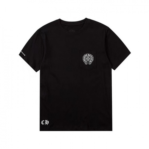 Replica Chrome Hearts T-Shrits Short Sleeved O-Neck For Men #759676 $26.19 USD for Wholesale