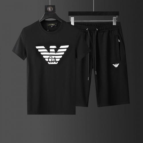 Armani Tracksuits Short Sleeved O-Neck For Men #760940
